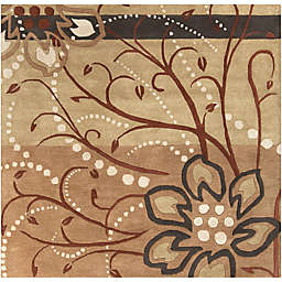 Surya Athena Floral Abstract 8' Square Rug in Brown/Neutral
