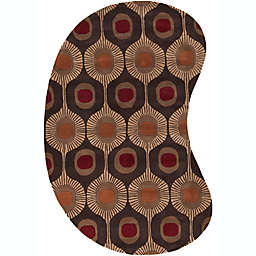 Surya Forum Tufted 6' x 9' Kidney-Shaped Area Rug in Brown