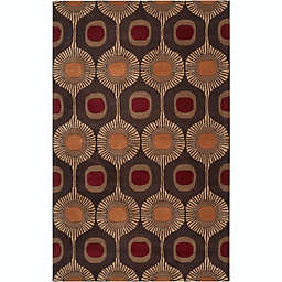 Surya Forum Modern 7'6 x 9'6 Hand Tufted Area Rug in Brown