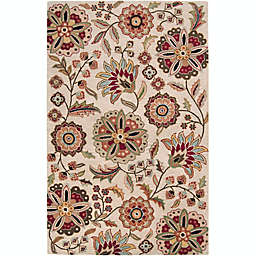 Surya Athena Floral Botanical 10' x 14' Hand Tufted Area Rug in Camel
