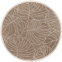 Surya Studio 8' Round Hand-Tufted Area Rug in Brown/Neutral