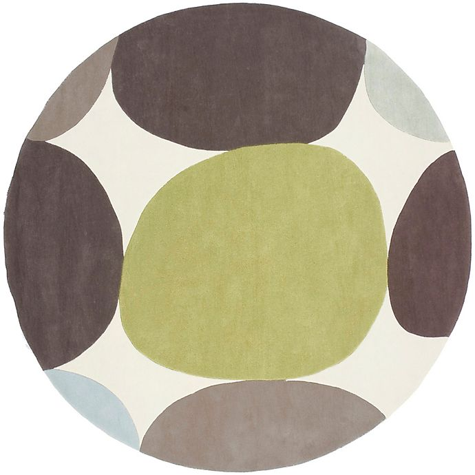 Alternate image 1 for Surya Cosmopolitan Modern 8' Round Handcrafted Area Rug in Green