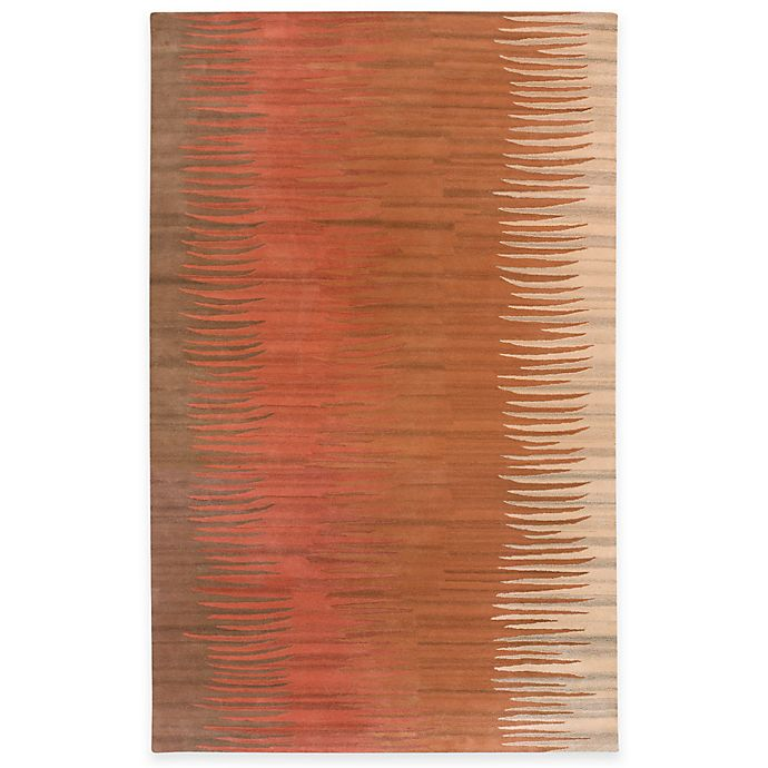 B Smith Surya Abstract Hand Tufted Area Rug In Brown