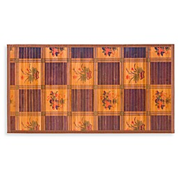 Naturesort Intersection Bamboo Area Rugs in Burgundy