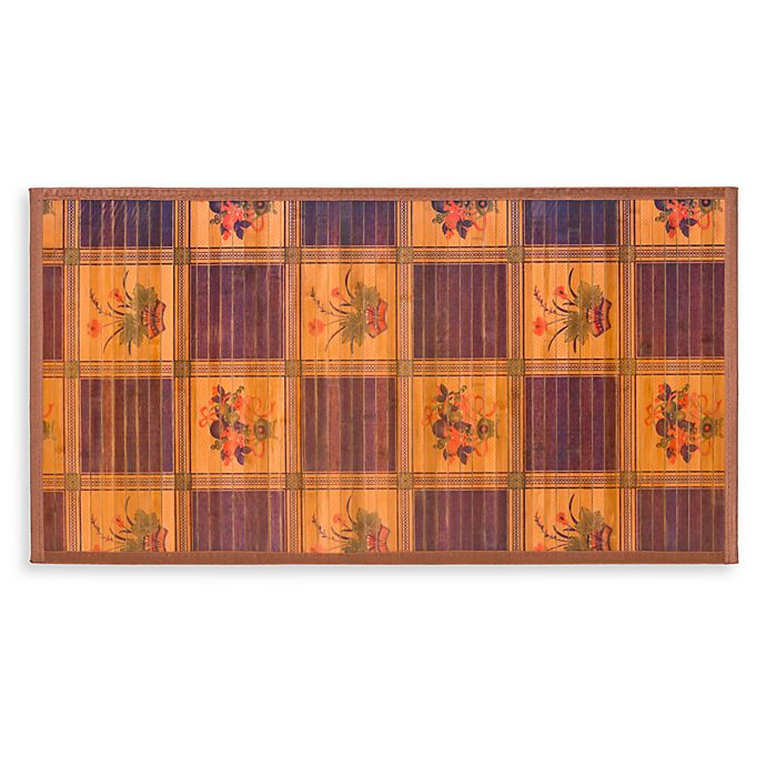 Alternate image 1 for Naturesort Intersection Bamboo 1-Foot 8-Inch x 9-Foot 2-Inch Runner in Burgundy