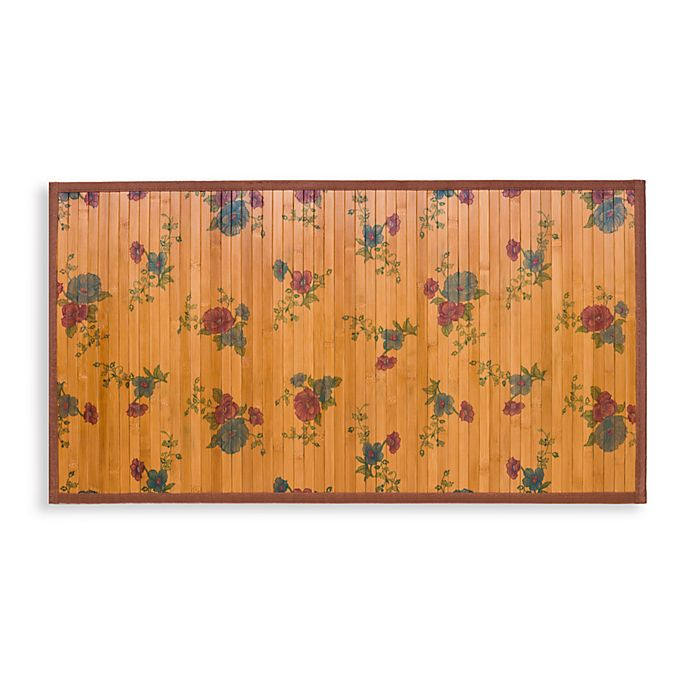 Alternate image 1 for Naturesort Intersection Roses Bamboo Rug in Brown