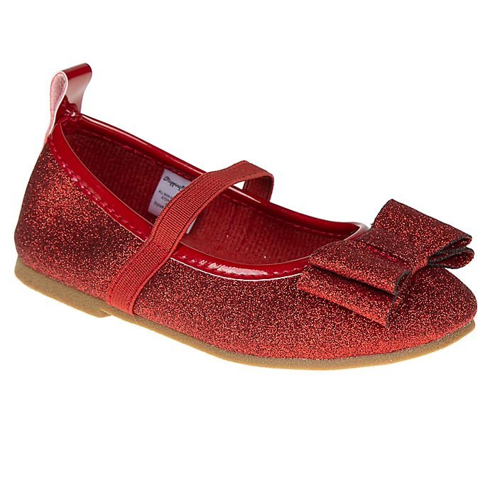 Alternate image 1 for Stepping Stones Size 5 Textured Caviar Mary Jane Dress Shoe in Red