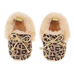 First Steps Leopard Moccasin Slipper in Gold
