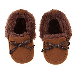 First Steps Camel Moccasin Slipper in Brown