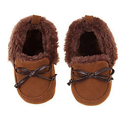 First Steps Size 6-9M Camel Moccasin Slipper in Brown
