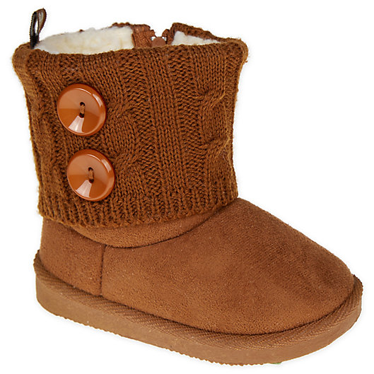 Alternate image 1 for Stepping Stones Sweater Knit Boot in Chestnut