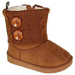 Stepping Stones Sweater Knit Boot in Chestnut