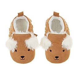 First Steps Bear Moccasin Booties