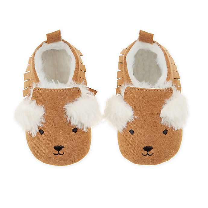 Alternate image 1 for First Steps Bear Moccasin Booties