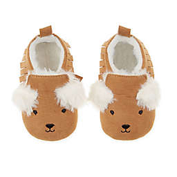 First Steps Size 9-12M Bear Moccasin Booties in Tan