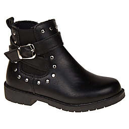 Stepping Stones Bootie with Silver Studs in Black