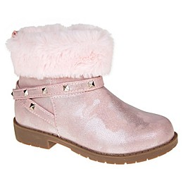 Stepping Stones Faux Fur Cuff Bootie in Pink