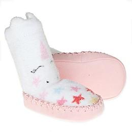 First Steps Unicorn Slipper Socks in White