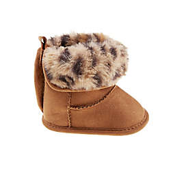 Stepping Stones Leopard Faux Fur Boot in Tan