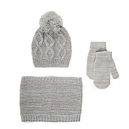 Nicole Miller New York 3-Piece Cold Weather Hat, Scarf, and Gloves Set
