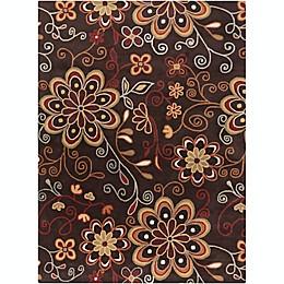 Surya Athena Floral Rug in Brown/Rust