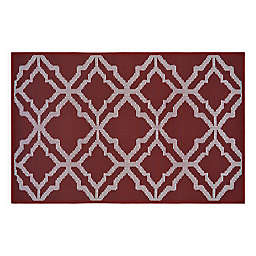 Norfolk 2'6 x 4' Accent Rug in Red