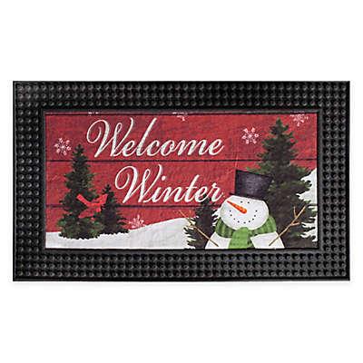 """Welcome Winter 18"""" x 30"""" Multicolor LED Door Mat"""