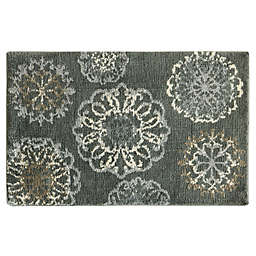Bacova Cashlon 1'8 x 2'8 Accent Rug in Charcoal
