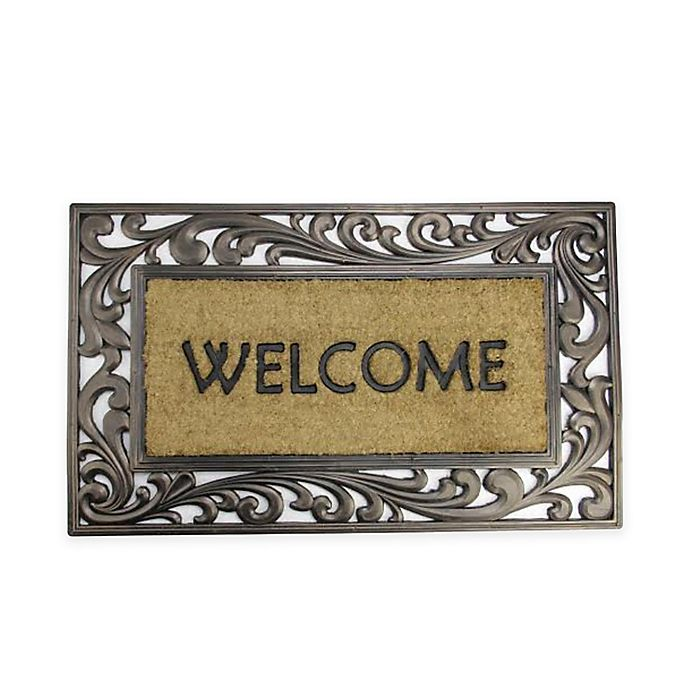 Northlight Scroll Border Welcome 18 Quot X 30 Quot Door Mat In