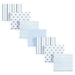 Hudson Baby® 7-Pack Geometric Flannel Receiving Blankets in Blue