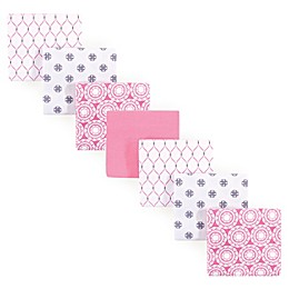 Hudson Baby® 7-Pack Medallion Flannel Receiving Blankets in Pink