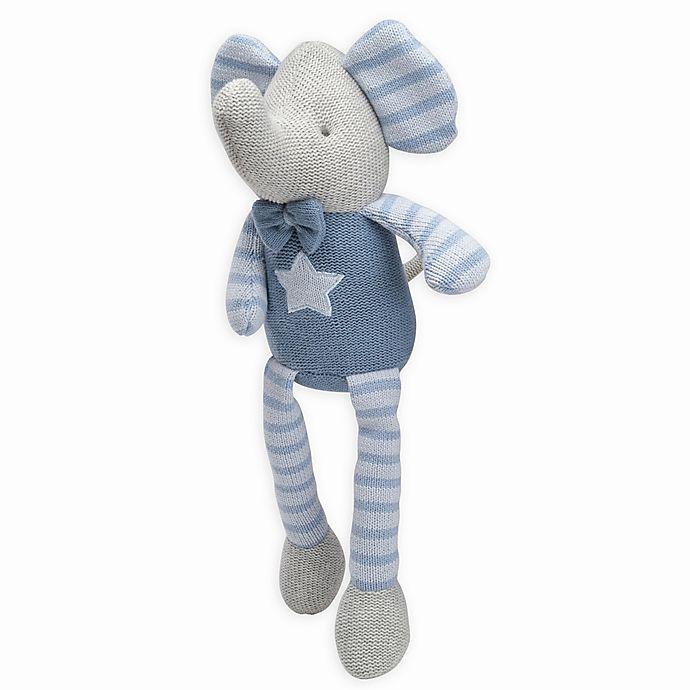 Alternate image 1 for Elegant Baby® Elephant Knit Plush Toy