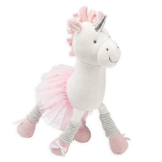 Alternate image 1 for Elegant Baby® Unicorn Knit Plush Toy