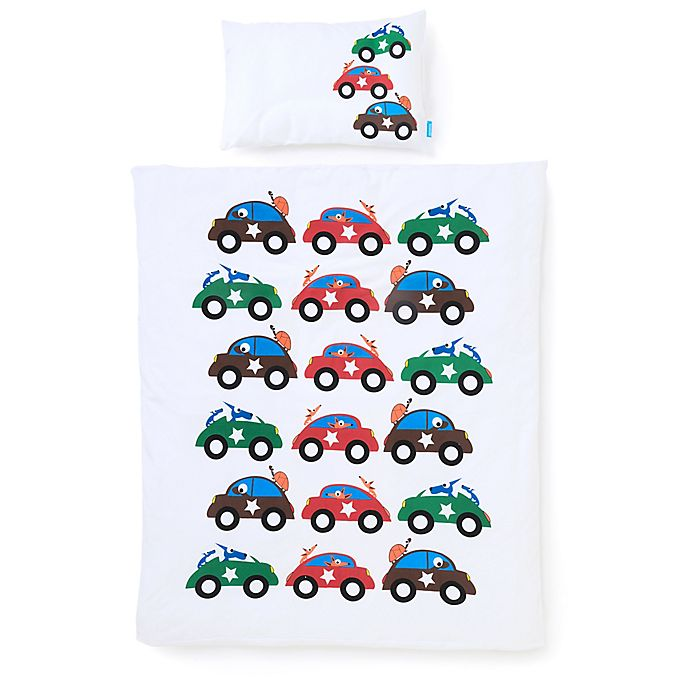 Alternate image 1 for Eggkids® 2-Piece Smaland Organic Cotton Crib/Bed Duvet Cover and Pillowcase Set