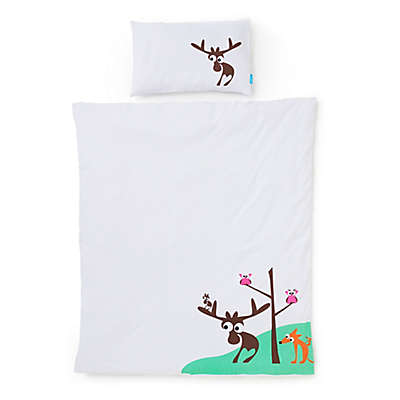 Eggkids® 2-Piece Cars Organic Cotton Crib/Bed Duvet Cover and Pillowcase Set