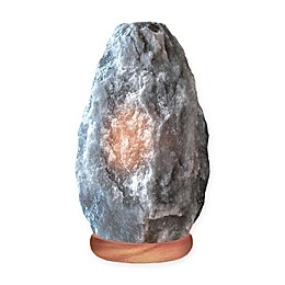 Himalayan Glow® Medium Natural Salt Crystal Lamp in Grey