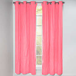 Crayola® Solid 84-Inch Grommet Blackout Window Curtain Panel in Cotton Candy