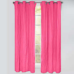 Crayola® Solid 84-Inch Grommet Blackout Window Curtain Panel in Hot Magenta