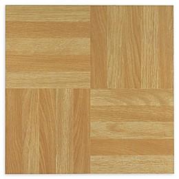 Achim Tivoli 45-Pack 12-Inch Four Finger Parquet Floor Tiles in Beige