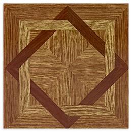 Achim Tivoli 45-Pack 12-Inch Wood Diamond Floor Tiles in Beige