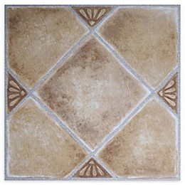 Achim Tivoli 45-Pack 12-Inch Clay Diamond Floor Tiles in Beige