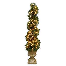 National Tree Company 54-Inch Pre-Lit Artificial Juniper Slim Spiral Tree
