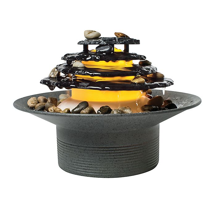 Alternate image 1 for HoMedics® Mirra Zen Relaxation Fountain in Grey