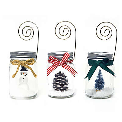 Prinz Holiday Mason Jar  Photo Clip (Set of 3)