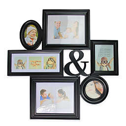 Northlight 27.75-Inch Multi-Sized Ampersand Picture Collage Frame