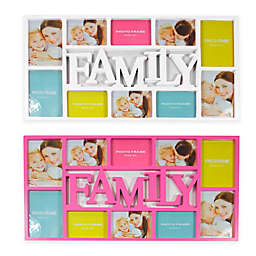 Northlight 28.75-Inch Dual-Sized 'Family' Picture Collage Frame