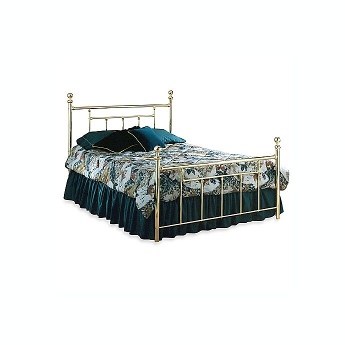 Alternate image 1 for Hillsdale Chelsea Complete Bed in Brass
