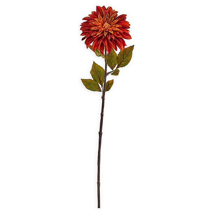 Alternate image 1 for Nearly Natural Artificial Orange Dahlias (Set of 6)