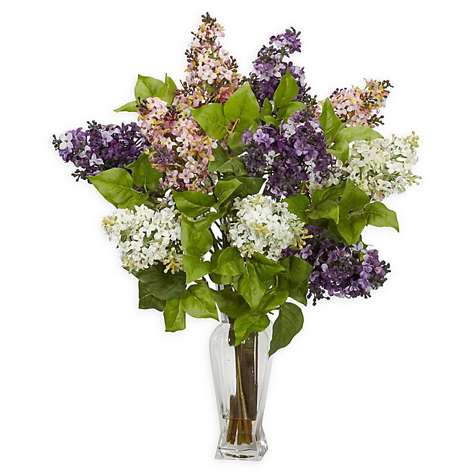 Alternate image 1 for Nearly Natural Artificial Multicolor Lilac Arrangement in Vase