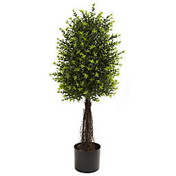Nearly Natural 3-Foot Indoor/Outdoor Artificial Ixora Topiary